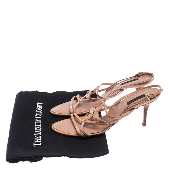 Louis Vuitton Leather Patent Leather Strappy Beige Sandals Image 7