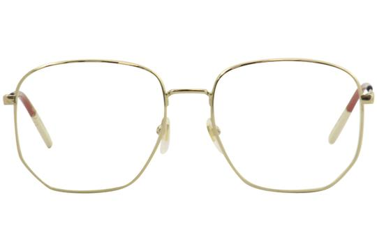 Gucci Gucci Women's Eyeglasses Urban GG0396O GG/0396 002 Gold Optical Frame Image 1