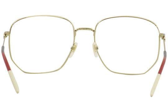 Gucci Gucci Women's Eyeglasses Urban GG0396O GG/0396 002 Gold Optical Frame Image 3