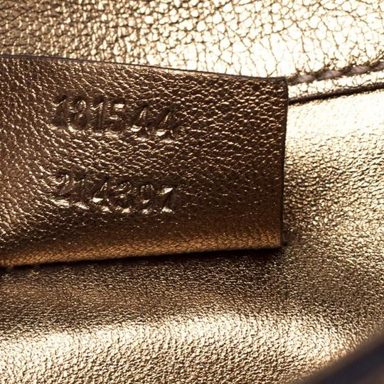 Gucci Gucci Gold Guccissima Leather Buckle Continental Wallet Image 4