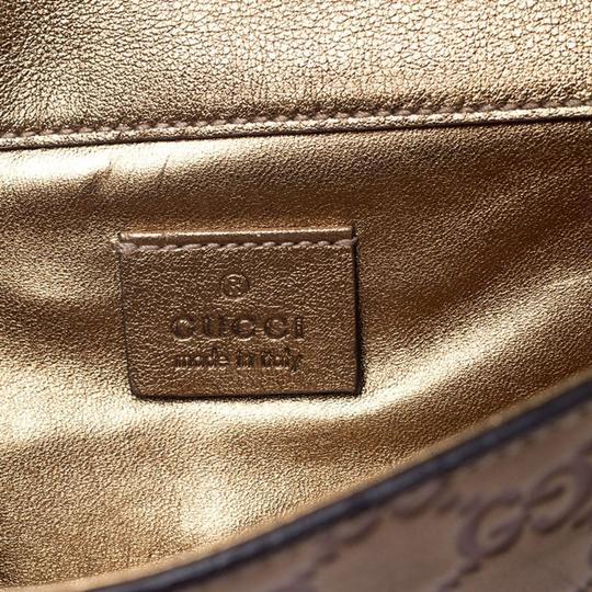 Gucci Gucci Gold Guccissima Leather Buckle Continental Wallet Image 9