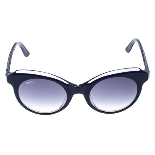 Tod's Tod's Dark Blue/ Blue Gradient TO161 Cat Eye Sunglasses Image 1