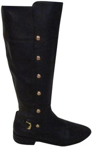 Michael Kors black with gold Boots