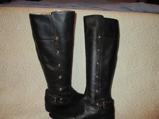 Michael Kors black with gold Boots Image 1