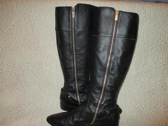 Michael Kors black with gold Boots Image 9