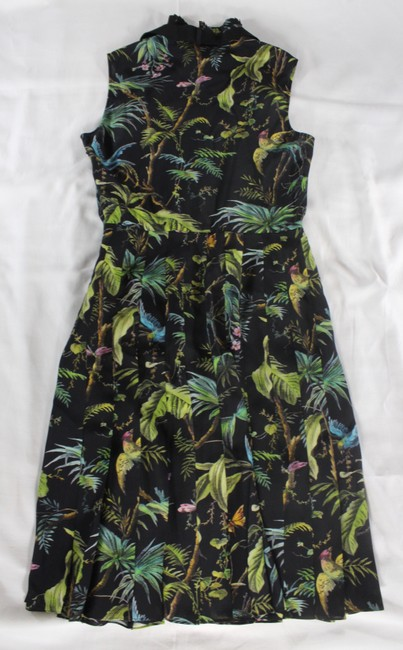 Gucci Tropical Pleated Silk Dress Image 11