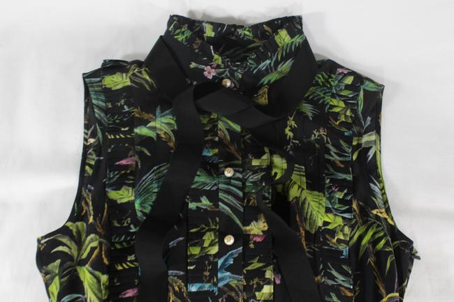 Gucci Tropical Pleated Silk Dress Image 4