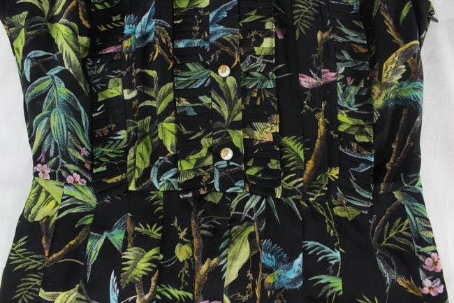 Gucci Tropical Pleated Silk Dress Image 6