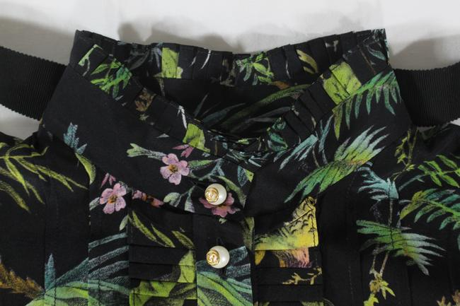 Gucci Tropical Pleated Silk Dress Image 8