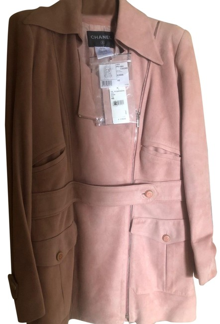 Preload https://img-static.tradesy.com/item/26389978/chanel-light-pink-suede-coat-size-14-l-0-2-650-650.jpg