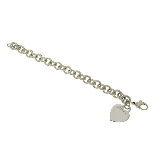 Tiffany & Co. Tiffany & Co 925 Sterling Silver Heart Tag Charm Bracelet Size 6.75 Image 2