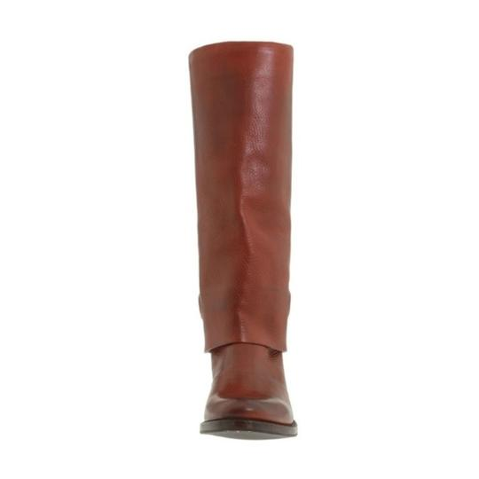 Frye Leather Pull On Knee High Red Loop Brown Boots Image 1