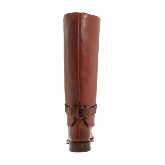 Frye Leather Pull On Knee High Red Loop Brown Boots Image 5