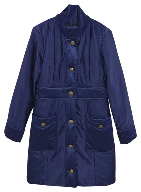 Marc by Marc Jacobs Blue Quilted Jacket #175-15 Coat Size 8 (M) Marc by Marc Jacobs Blue Quilted Jacket #175-15 Coat Size 8 (M) Image 1