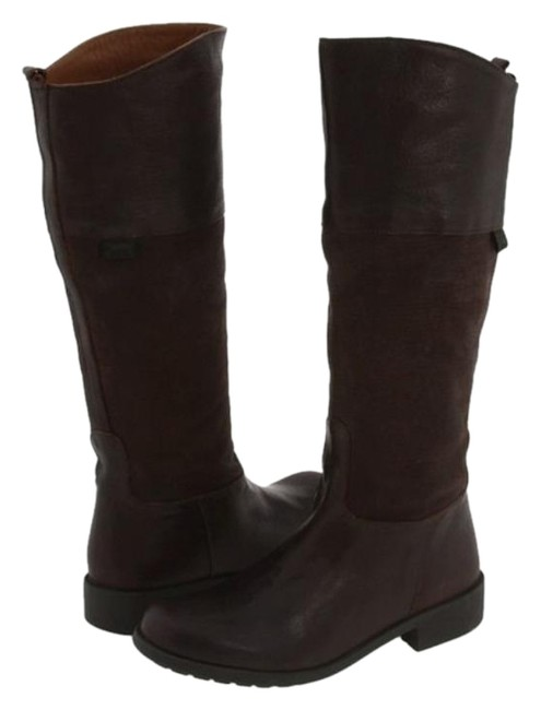 Item - Brown 1912-46287 Eu 35 Dark Leather Suede Pull On Riding Knee High Boots/Booties Size US 5 Regular (M, B)