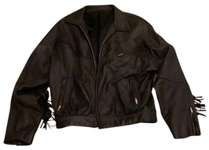 Tannery West black Leather Jacket