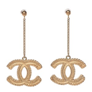Chanel CC Chain Drop Matte Large Iconic Statement Earrings