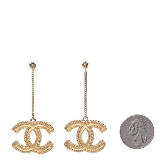 Chanel CC Chain Drop Matte Large Iconic Statement Earrings Image 2