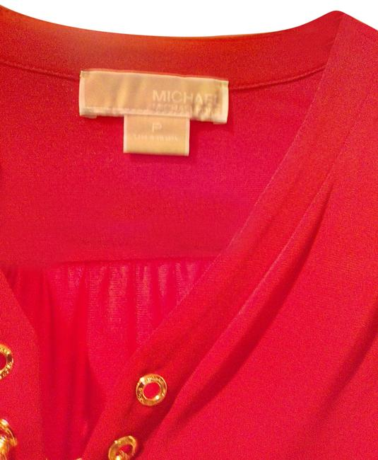 Item - Red Gold Tunic Size Petite 4 (S)
