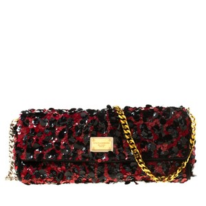 Dolce&Gabbana Suede Satin Shoulder Bag