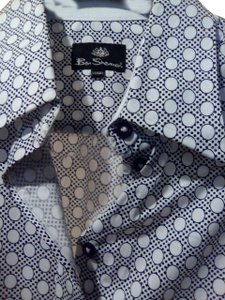 Ben Sherman Button Down Shirt Black / White