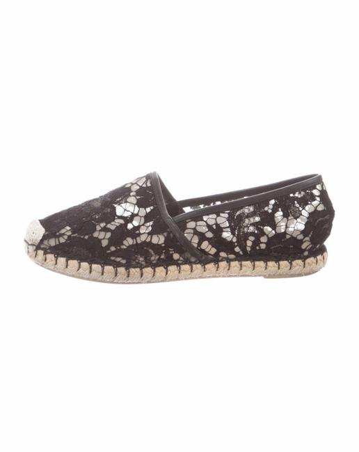 Item - Black Garavani Lace Espadrille Flats Size EU 38 (Approx. US 8) Regular (M, B)