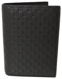 Gucci NEW GUCCI Leather Microguccissima Vertical Passport Holder Wallet