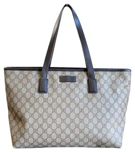 Gucci Gg Supreme Vintage Gg Monogram Tote in Brown, Beige