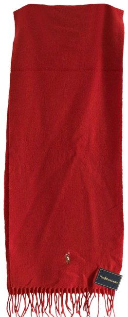 Item - Red Unisex's Wool Scarf/Wrap