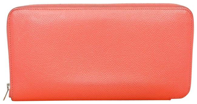 Item - Salmon Pink Clutch Box In Epsom Leather Azap Zip Around Purse Wallet