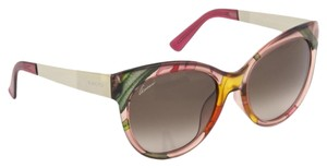 Gucci FLORAL SILK GG3760FS Pink Pale Gold Metal Sunglasses Asian Fit 3760