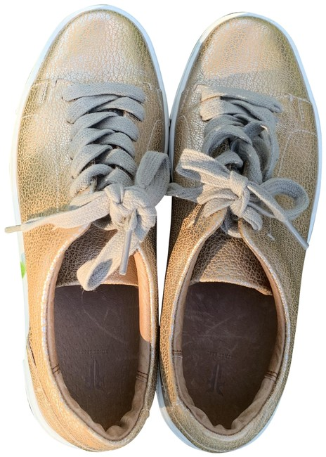 Item - Golden Leather Sneakers Size US 6.5 Regular (M, B)
