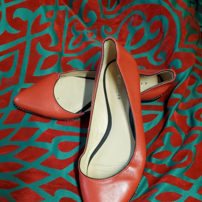 Item - Red Reeves' Leather Flats Size US 6.5 Regular (M, B)