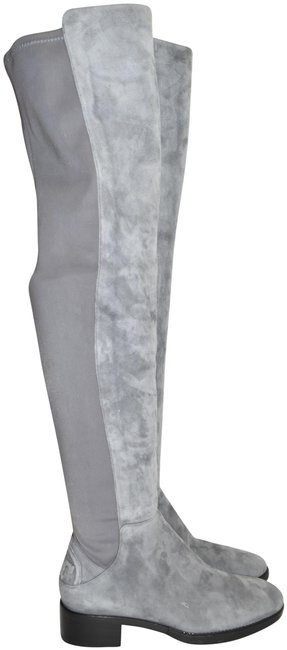 Item - Gray Suede Caitlin Over The Knee Embossed Log0 (2) (M34) Boots/Booties Size US 6 Regular (M, B)