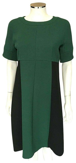Marni Green Black Color Short Sleeve Made In Italy Mid-length Work/Office Dress Size 6 (S) Marni Green Black Color Short Sleeve Made In Italy Mid-length Work/Office Dress Size 6 (S) Image 1