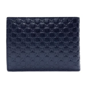 Gucci Gucci Men's Navy Blue Microguccissima Leather Bifold Wallet 367287