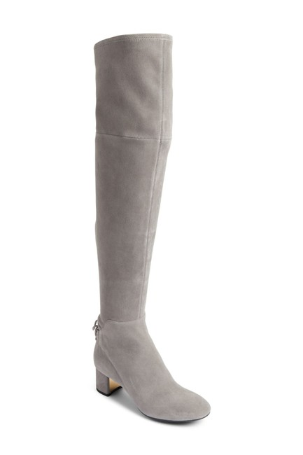 Item - Carbon Gray Suede Laila Over The Knee Ankle Tie (M34 Boots/Booties Size US 6 Regular (M, B)