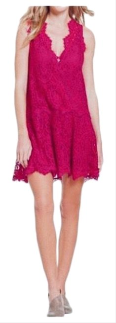 Item - Pink Heart In Two Sleeveless Lace Short Night Out Dress Size 2 (XS)