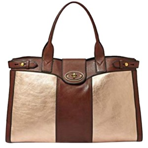 Fossil Tote in Rose Gold