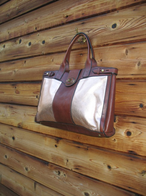 Fossil Reissue Weekender Rose Gold Leather Tote Fossil Reissue Weekender Rose Gold Leather Tote Image 3