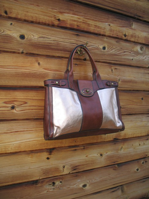 Fossil Reissue Weekender Rose Gold Leather Tote Fossil Reissue Weekender Rose Gold Leather Tote Image 4