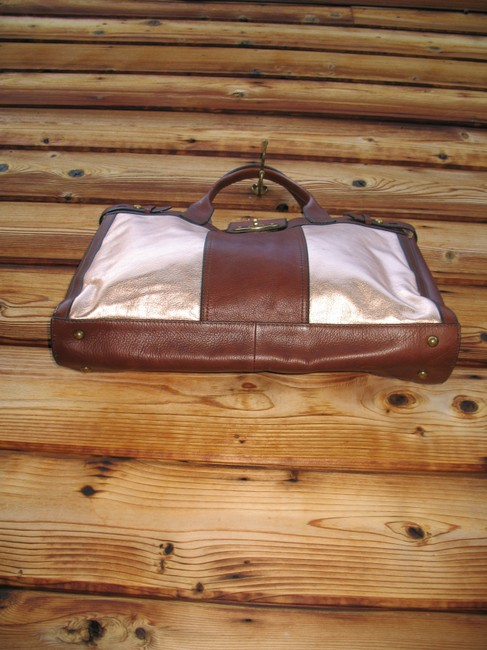 Fossil Reissue Weekender Rose Gold Leather Tote Fossil Reissue Weekender Rose Gold Leather Tote Image 5