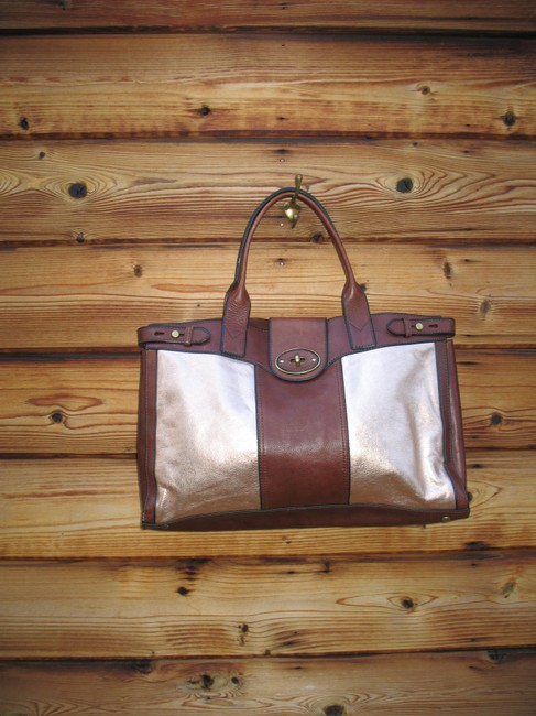 Fossil Reissue Weekender Rose Gold Leather Tote Fossil Reissue Weekender Rose Gold Leather Tote Image 6