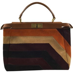 Fendi Peekaboo Satchel in Multicolor