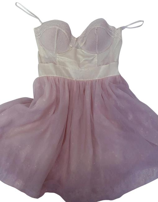 Item - Blush Pink Never Worn Tulle with Corset Mid-length Short Casual Dress Size 4 (S)