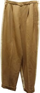 Delpozo Trouser Pants Tan off white