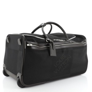 Louis Vuitton Rolling Luggage Luggage Rolling Duffle Duffle Suitcase Black Travel Bag