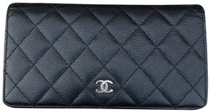 Chanel Black Quilted Bifold Wallet