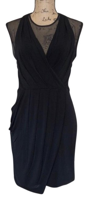 Preload https://img-static.tradesy.com/item/26395974/bcbgmaxazria-black-sheer-shift-mid-length-cocktail-dress-size-8-m-0-2-650-650.jpg