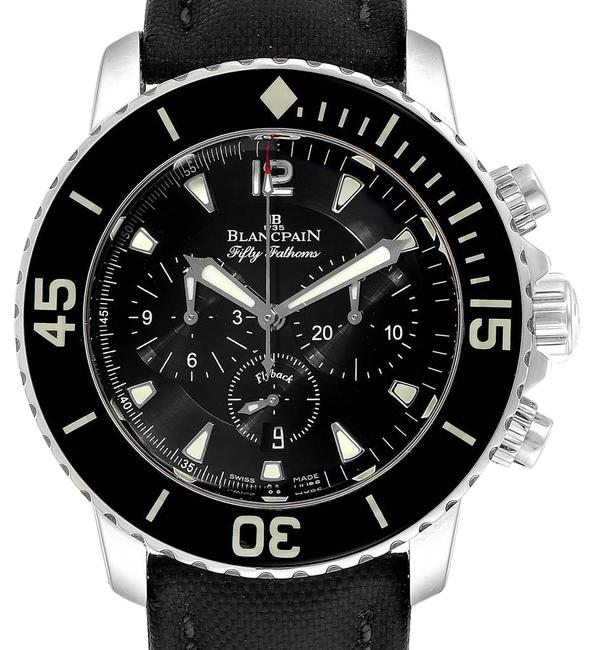 Item - Metallic Black Fifty Fathoms Flyback Flyback Chronograph Mens 5085f Watch